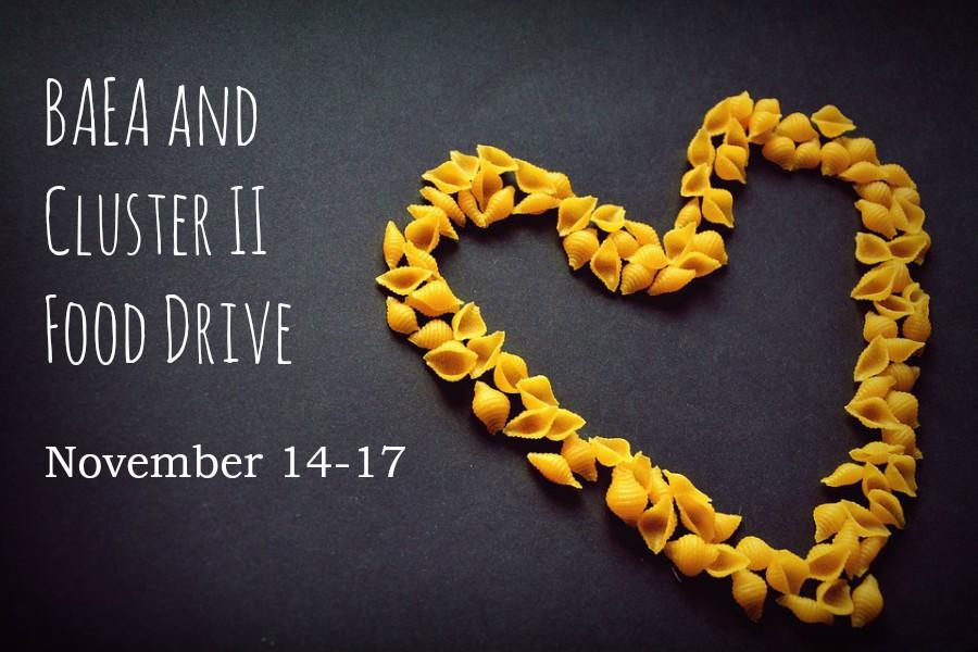 BAEA will hold a food drive starting next week.