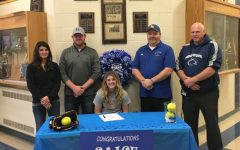 Siage McElwain signed to play at Penn College last week at a ceremony that was attended by her parents, friends and coaches.