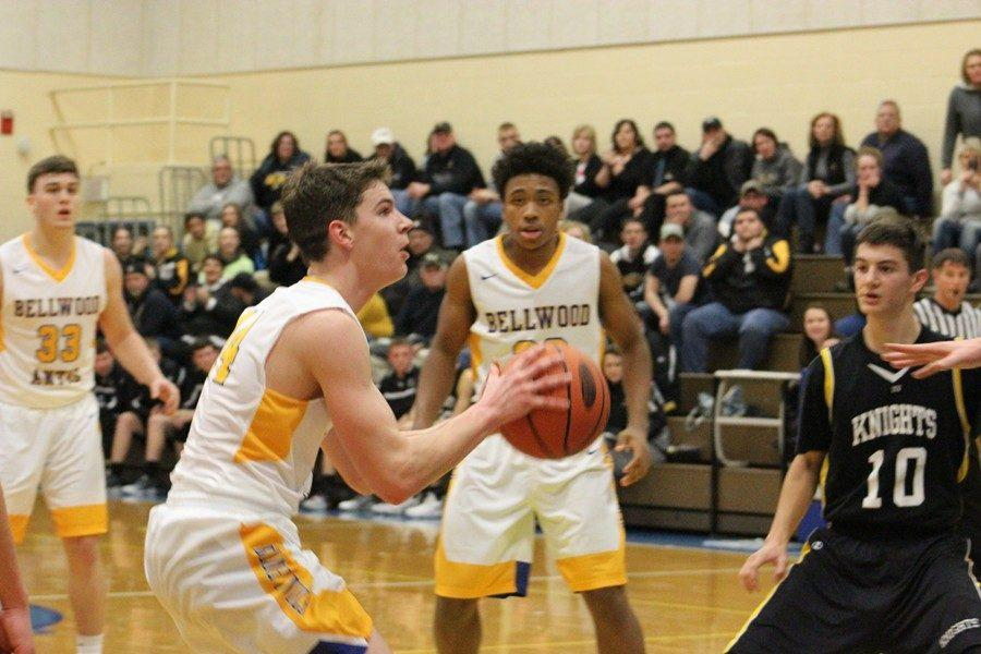 Joe Padula pulls up for a jumper in Wednesdays game against Moshannon Valley.