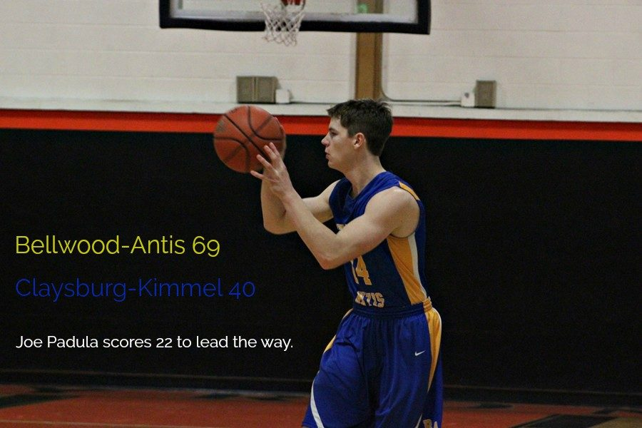 Joe Padula was the leading scorer for the Blue Devils in a win at Claysburg-Kimmel.