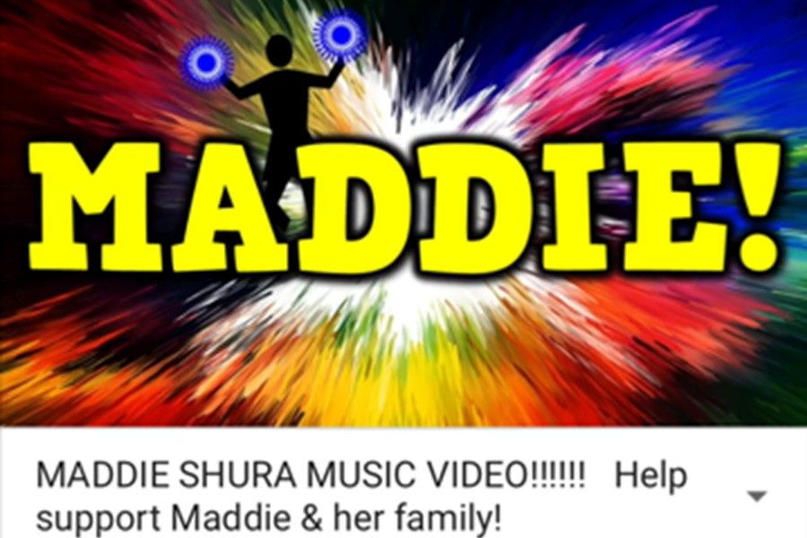 Kindergarten teacher Mr. Pete Harry is using his YouTube channel to raise awareness and funds for Maddie Shura in her fight with cancer.