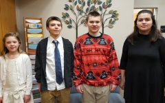 Middle school Students of the Week are: (l to r) Hannah McClellan, Dallas Smithmyer, Michael Kienzle, and Abby Orona.