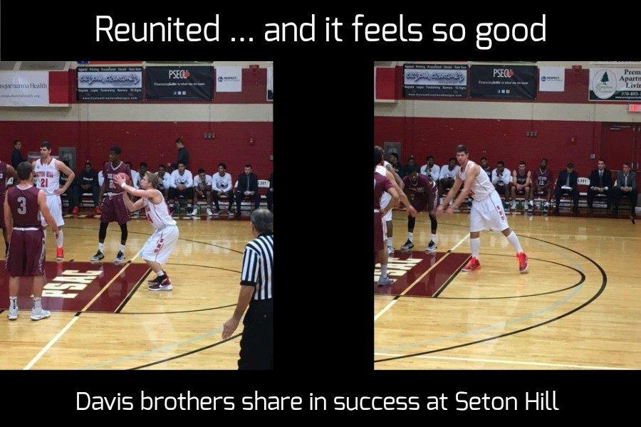 B-A grads Nathan and Noah Davis are loving their choice of Seton Hill.