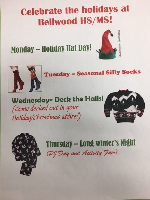 There will be four days of dress up next week.