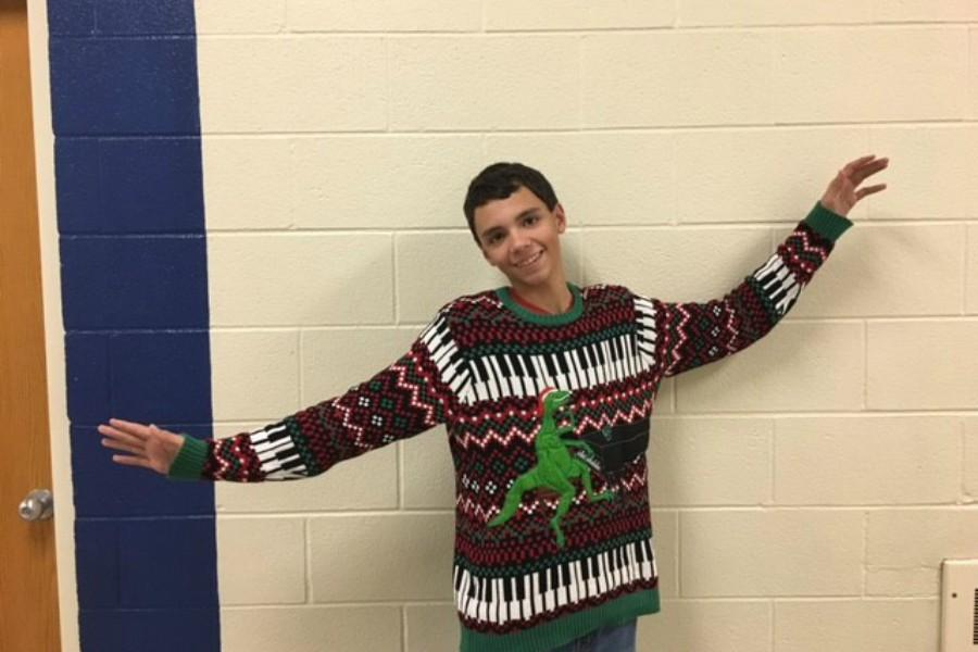 Freshman Tyler Garner already has the perfect sweater in mind for next Wednesday during Christmas spirit week.