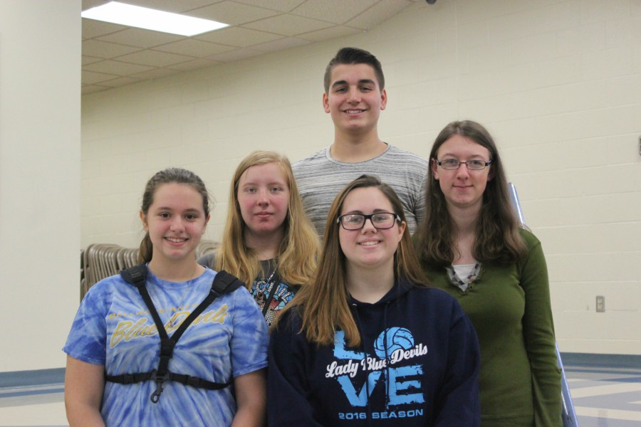 Kaitlyn Hamer, Kyra Woomer, Julie Bauer, Kaitlyn Farber, and Dominic Tornatore willl be attending  Susquehanna Honors Band in 2017.