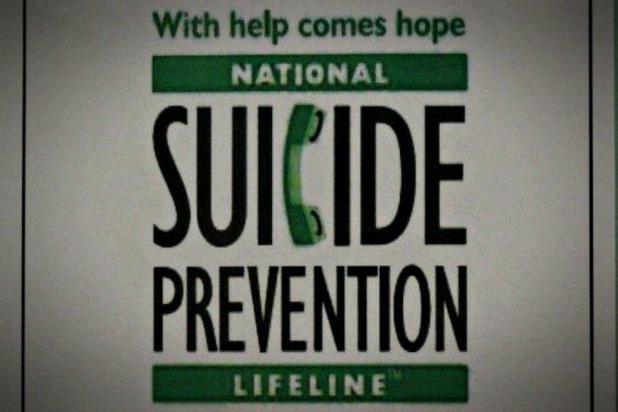 At B-A, there are many suicide prevention posters in the hallways of the high school and the middle school.