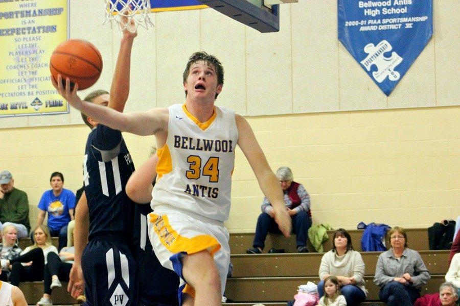 Jarrett Taneyhill used slick moves like this reverse to drop 22 points on Penns Valley last night.