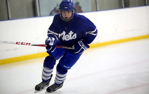 Junior Jake Miller, competing here for the Johnstown Jets, has been playing hockey all of his life.