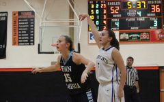 Alanna Leidig pops a three-pointer against Penn Cambria in the Reliance Bank Holiday Tournament.