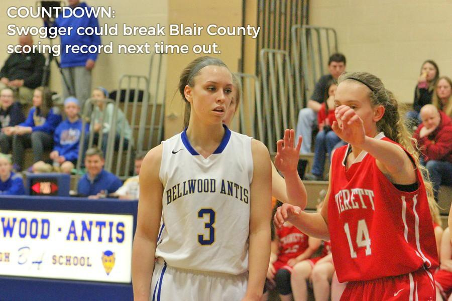 Karson Swogger is 27 points away from the Blair County scoring record after scoring 29 against Claysburg.