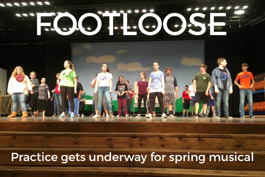 Practices began last week Bellwood-Antis's stage production of Footloose.