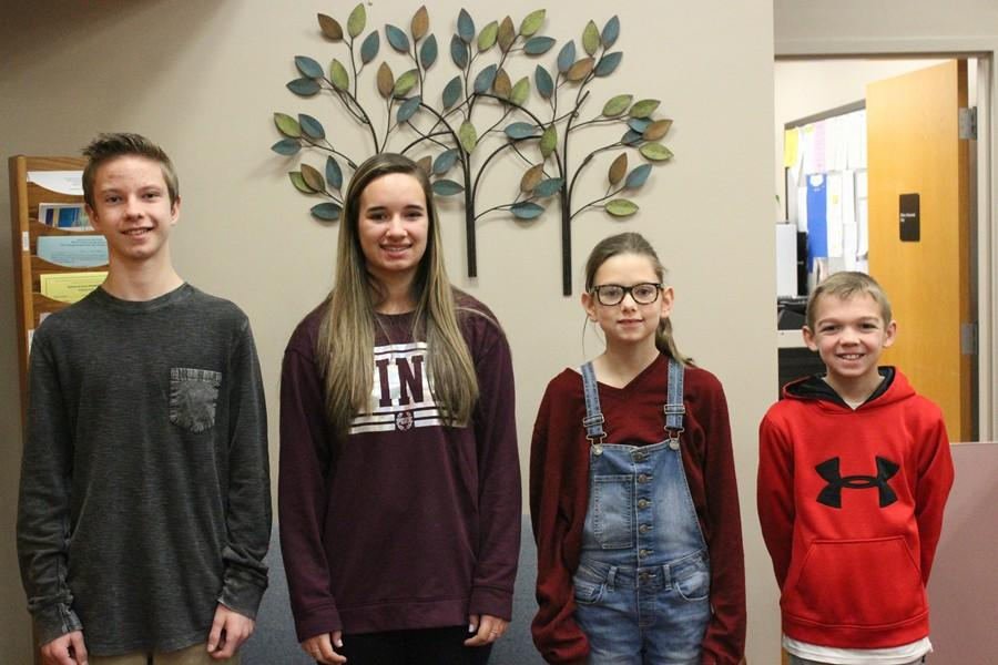 Kole Robison, Ashlyn Holby, Hannah Regan, and Kole Dickinson are the most recent Students of the Week.