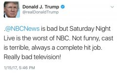 No one is immune from a Donald Trump rant in a tweet, not even SNL.