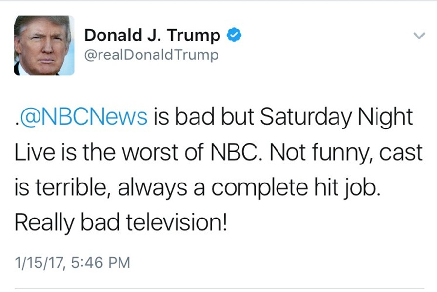No+one+is+immune+from+a+Donald+Trump+rant+in+a+tweet%2C+not+even+SNL.
