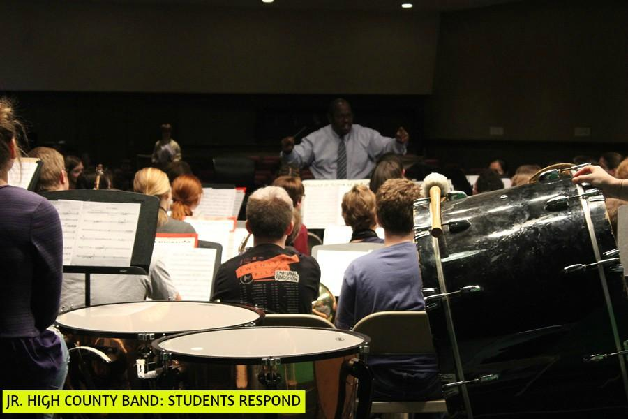 Students were disappointed when Junior High County Band was cancelled Tuesday.