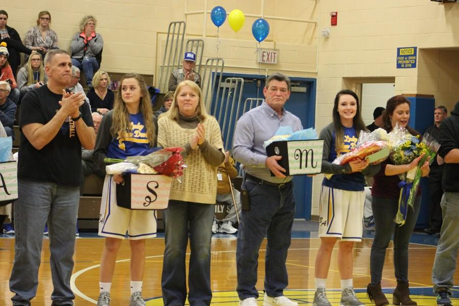 B-A basketball said thanks to both boys and girls senior classes this week.