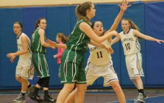 Sophie Damiano was one of several Lady Devils to turn it up defensively against Juniata Valley last night.