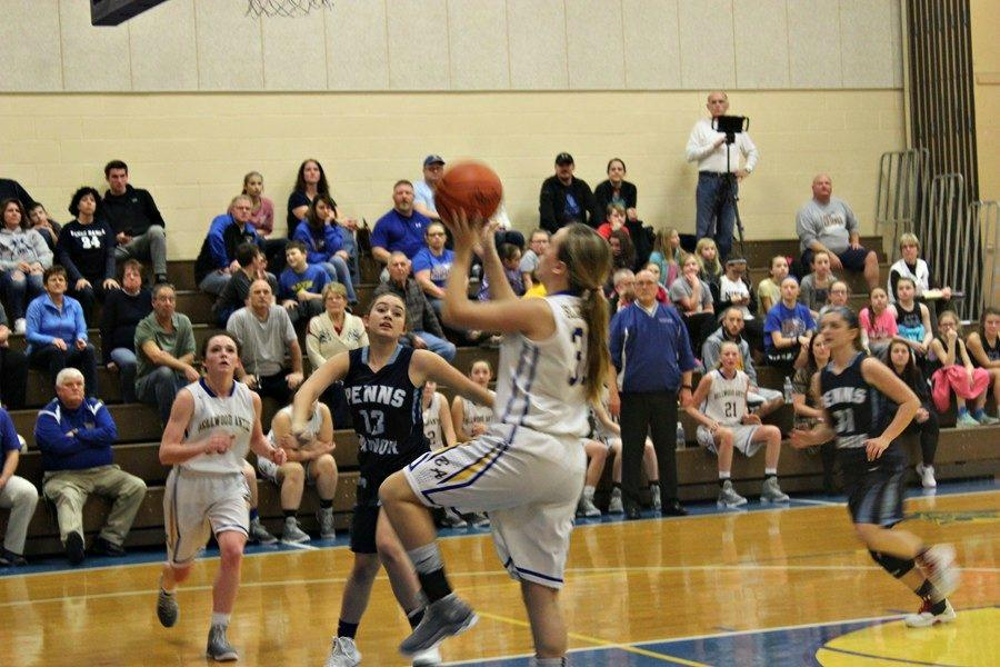 Sophomore+Kara+Engle+lays+in+two+points+in+B-A%27s+emphatic+playoff+win+over+Penns+Manor.