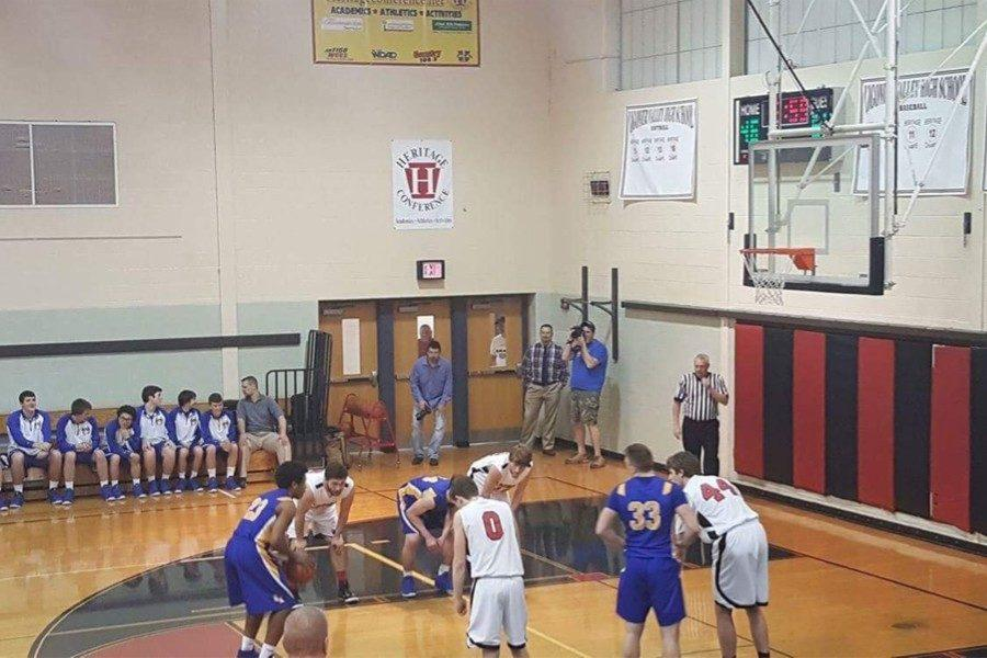 Clay Engle focuses on a foul shot in B-A's playoff win over Ligonier Valley.