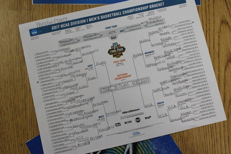 Phoebe Potter used only mascot preferences to choose her bracket this year.