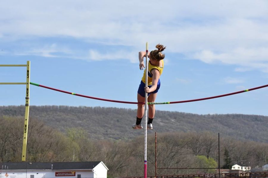 Alexis Gerwert is hoping to get back to District championship form this season in the pole vault.