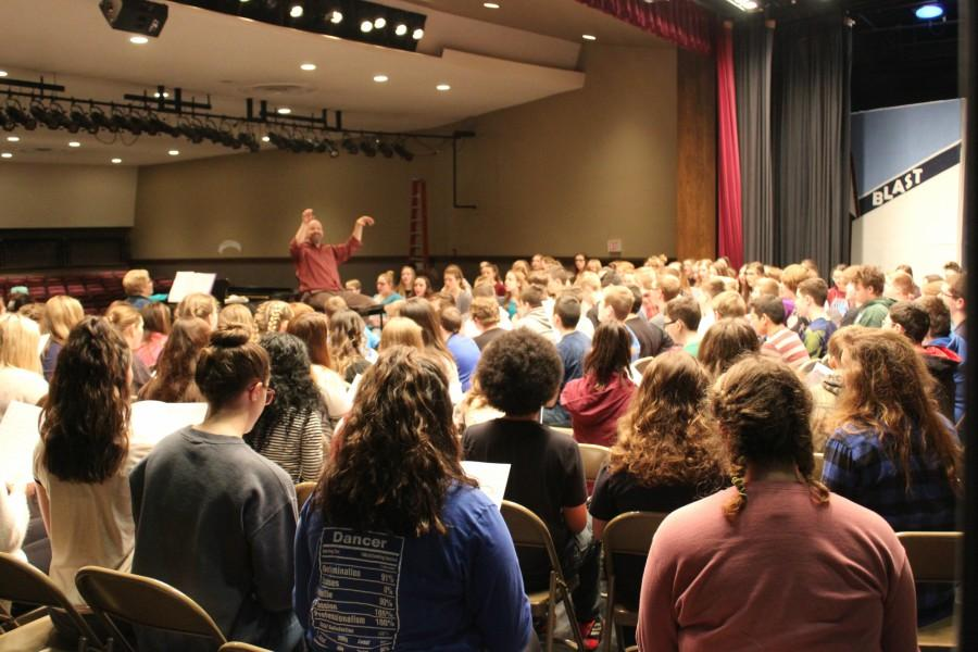 More than 160 students from Blair County are in Bellwood for the Blair County Chorus Festival.