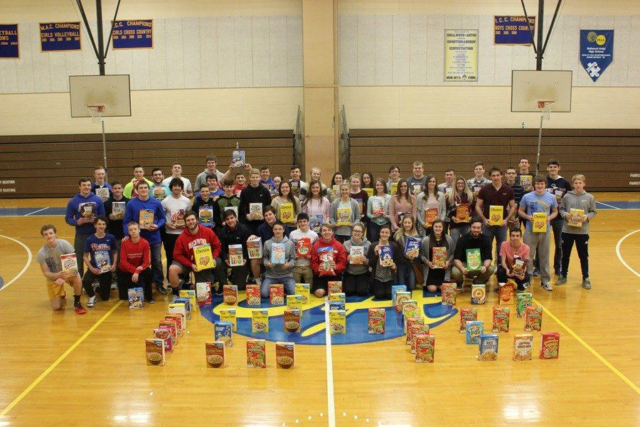 The FCA once again raised enormous amounts of food donations for the St. Vincent DePaul Food Pantry.