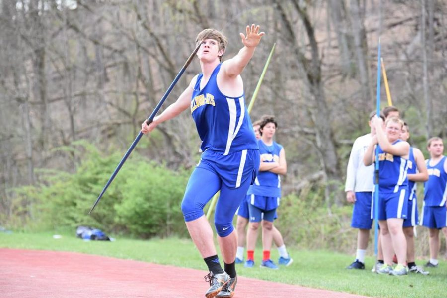 Jarrett Taneyhill has a strong chance of winning medal at Districts and advancing to states in the javelin.