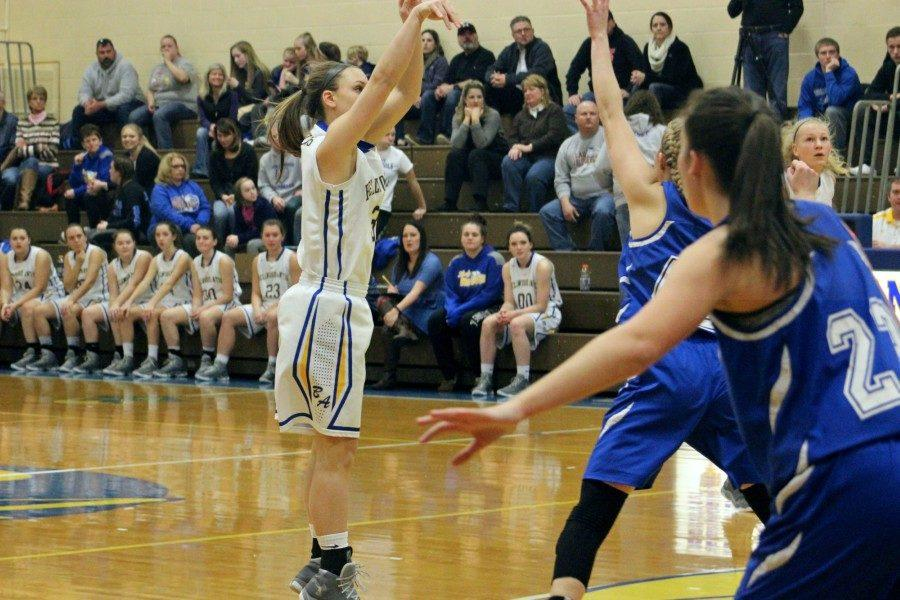 Karson SWwogger scored a game-high 33 and broke her own single-season school scoring record in the Lady Devils' rout of Northern Bedford in the PIAA playoffs.