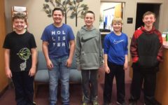 Michael Hostler, Dominic Caracciolo, Tyler Mercer, Connor Cobaugh and Dylan barr are the most recent middle school Students of the Week.