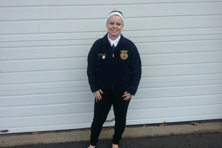Senior Abie Boutiller was one of two B-A FFA members to advance to the area speech competition.