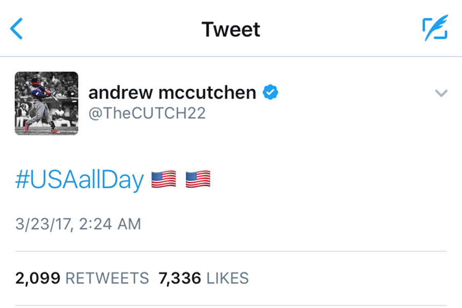 The Pittsburgh Pirates allowed their stars to play in the World Baseball Classic, and Andrew McCutchen was awarded with a gold medal.