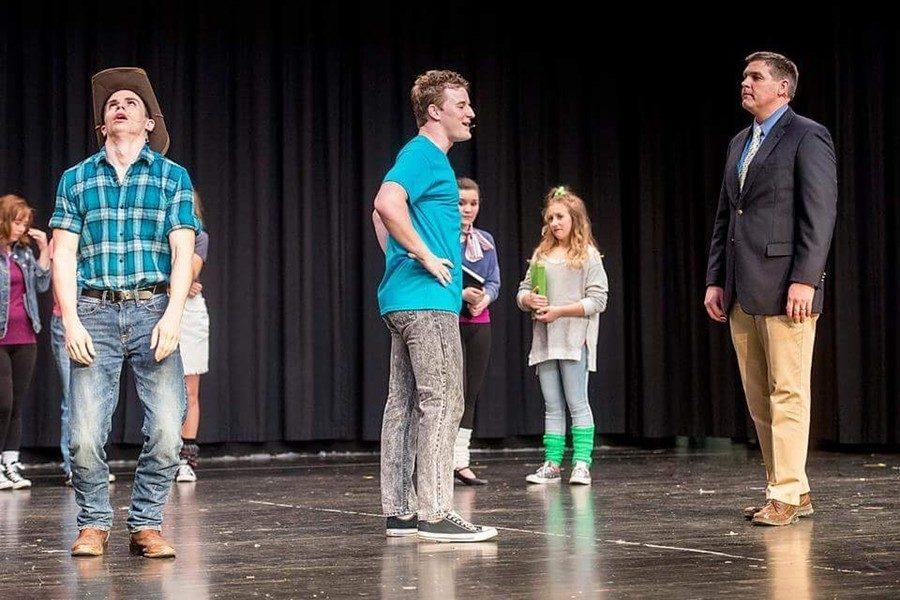 High+school+principal+Mr.+Richard+Schreier+will+play+a+role+quite+familiar+to+him+in+the+play+Footloose.