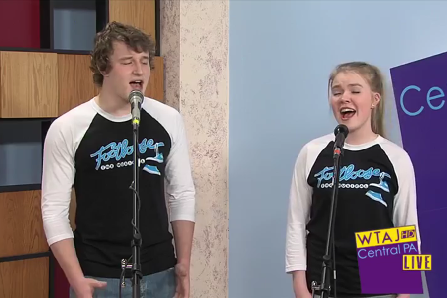 Ryen Beam and Grace Misera, shown at a recent appearance on Central PA Live, are the two leads in Footloose, Ren and Ariel.