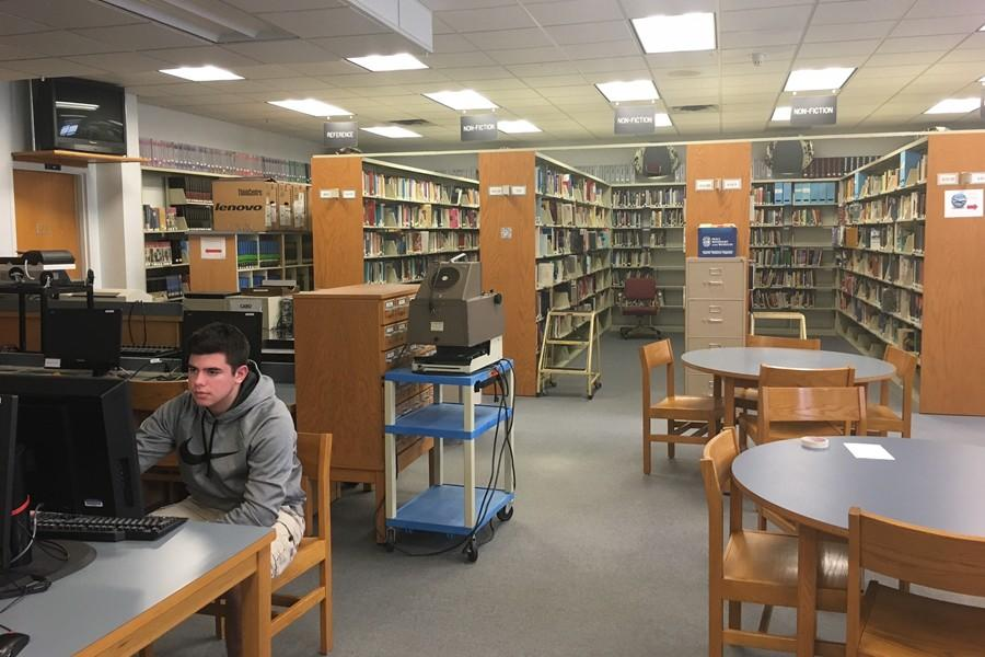 Now that the Media Center is attracting more students than ever, the traditional library doesn't get quite as much business as it once did.