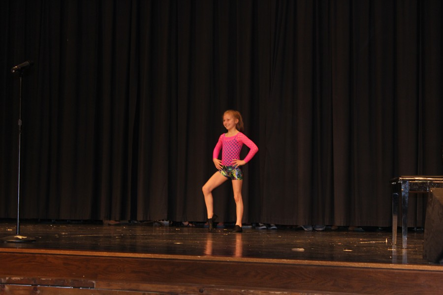 Second grader Juliana Gummo was one of many acts to wow the crowd at the Myers talent show.