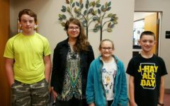 (L to r) Jeff Miller, Sarah Berkowitz, Olivia Gregg and Jacob Mercer are the newest middle school Students of the Week.