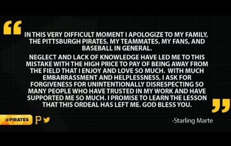 Starling Marte apologized for using PEDs but that doesn't help the Pirates.