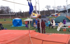 Junior Alexis Gerwert tied her own school record in the pole vault.