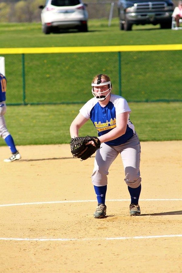 Haley Schmidt is finding her groove as the Devils starting pitcher.