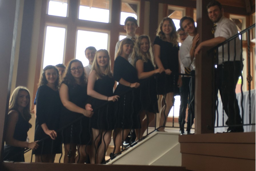 The B-A chorus ensemble performed for the Red Hats society this week.