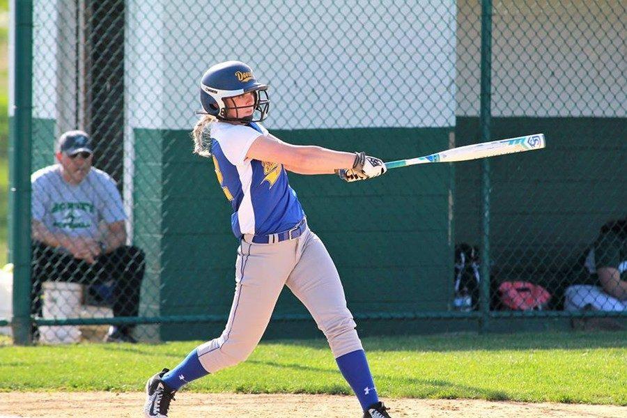 Saige McElwain cracked her third home run of the season against Juniata Valley.