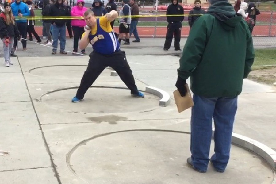 Chris Wertman is dominating the ICC shot put circuit in only his first year trying the event.