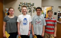 Middle school  Students of the Week are: Rebbecca Burns, Ethan Hess, Wyatt McKendree, and Aston Hundt.