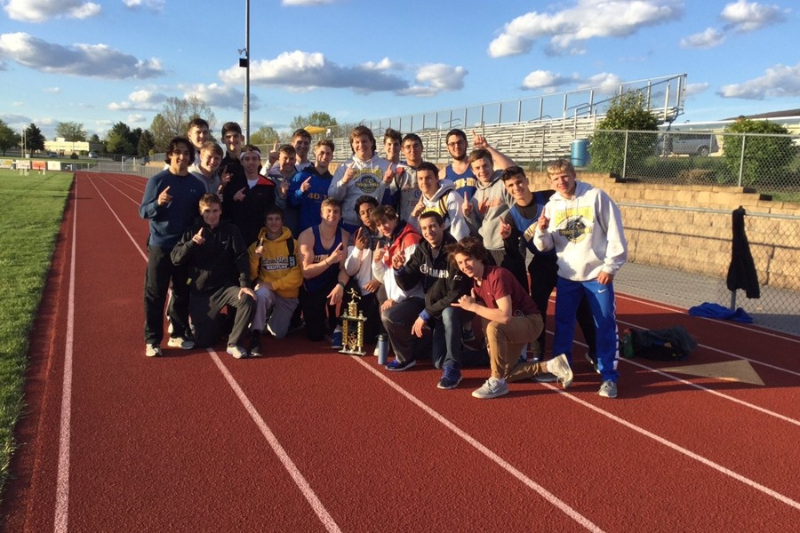 The boys track team added to the trophy case yesterday with another ICC championship.