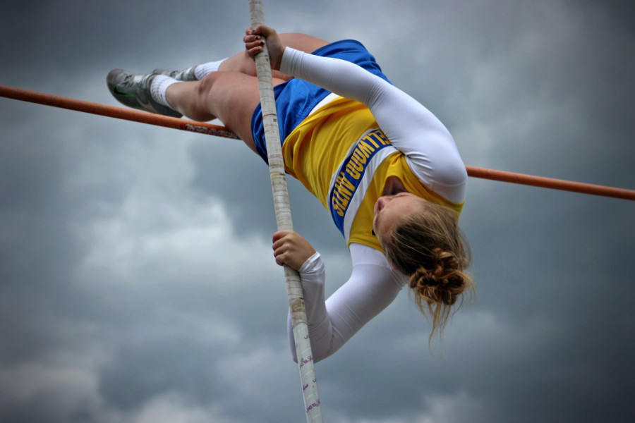 Lexi Gerwert became a two-time District 6 champion in the pole vault in May.