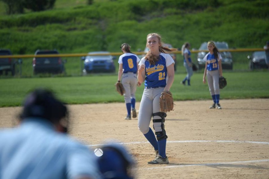 Maddie+Miller+pitched+a+complete-game+shutout+in+her+first+start+since+tearing+her+ACL.