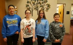 Middle school Students of the Week are: (L to r) Kaitlyn Robison, Raela Zuiker, Hailey Simon, and Jordan Hescox.