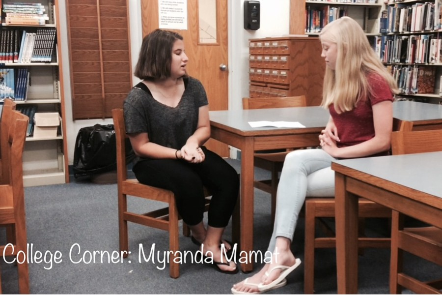 Myranda describes her college expectations.